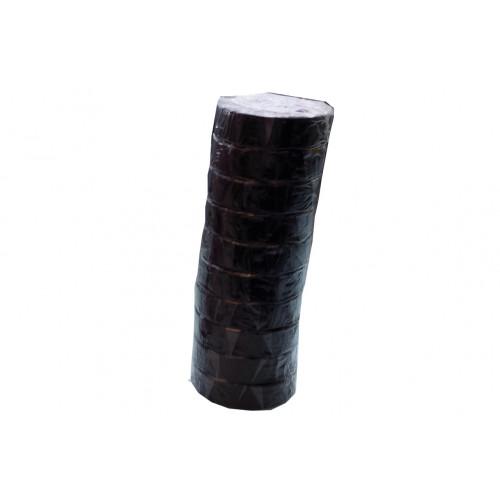 Nastro isolante adesivo Isotape nero 15x10 10 pezzi
