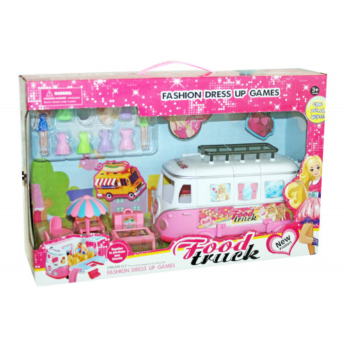 Food Track con con mini doll e accessori
