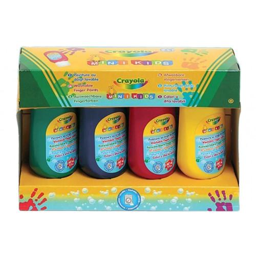 Colori a dita crayola lavabili set4tubi