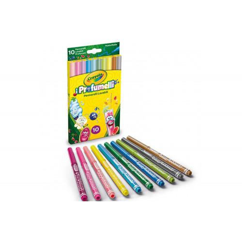 10 Pennarelli lavabili I Profumelli Punta Media Crayola