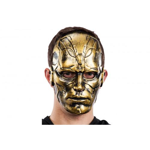 Maschera uomo oro plastica rigida