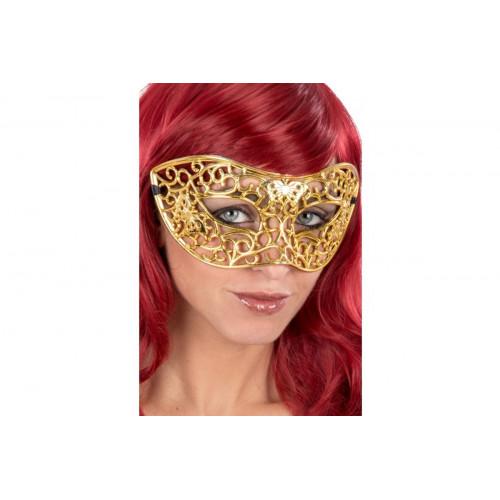 Domino plastica intagliato glitter oro Carnival Toys
