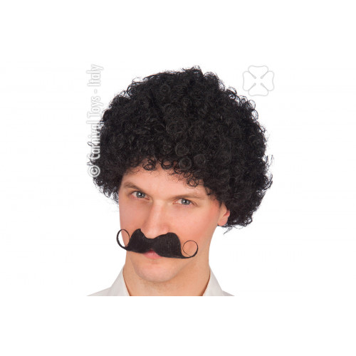 Parrucca ricciolona nera Carnival Toys