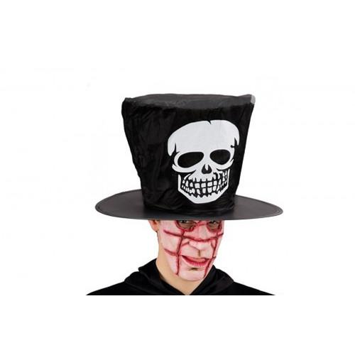 Cappello nero tessuto plastificato