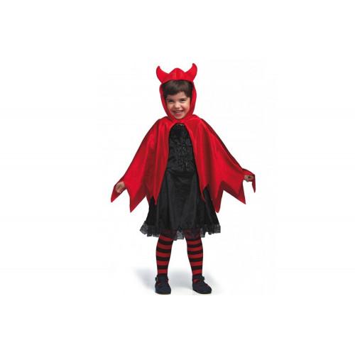 Mantello da diavoletto in velluto con cappuccio Carnival Toys
