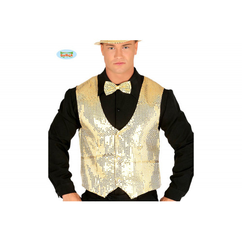 Gilet in Paillettes Oro