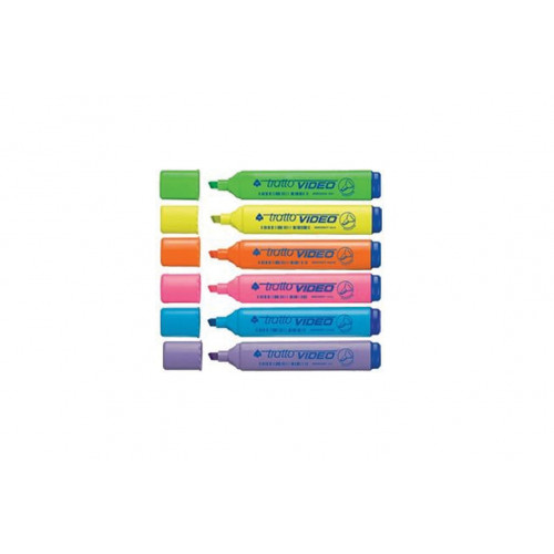 Evidenziatore Tratto video colori assortiti 20 pezzi Fila