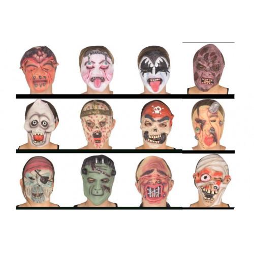 Maschera gomma soggetti assortiti