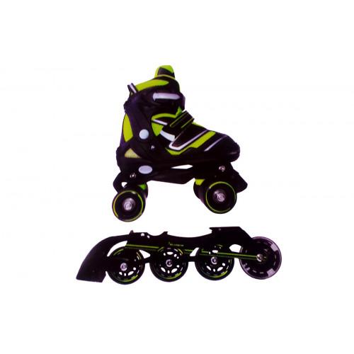 Pattini a 4 ruote trasformabili in linea taglia L Garlando
