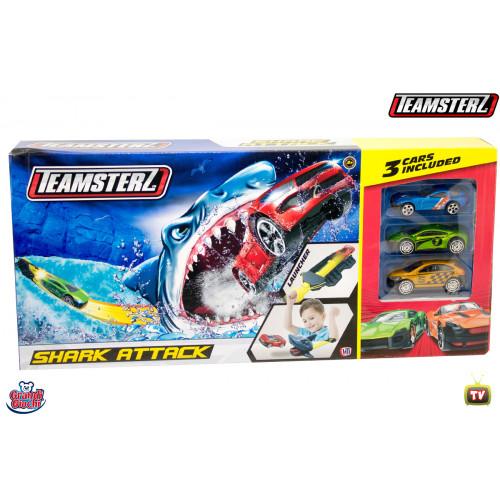 Teamsterz Pista Shark Attack con 3 auto Grandi Giochi
