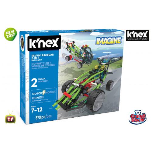K'nex Imagine Revvin' Racecar 2 in 1 370 pezzi Grandi Giochi
