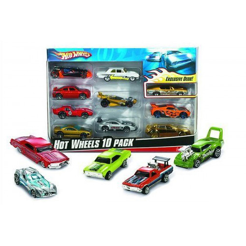 Hot Wheels auto pack 10 modelli Mattel