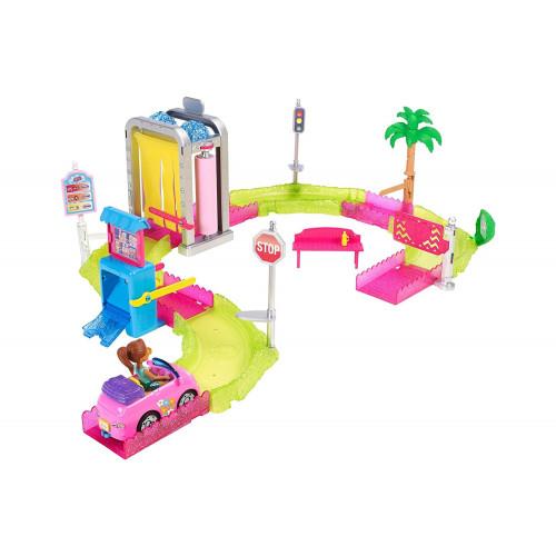 Barbie On The Go Autolavaggio Mattel