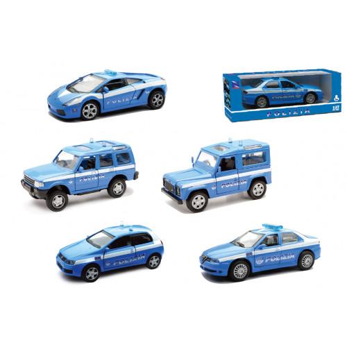 Auto Polizia 5 modelli ass.ti 1:32