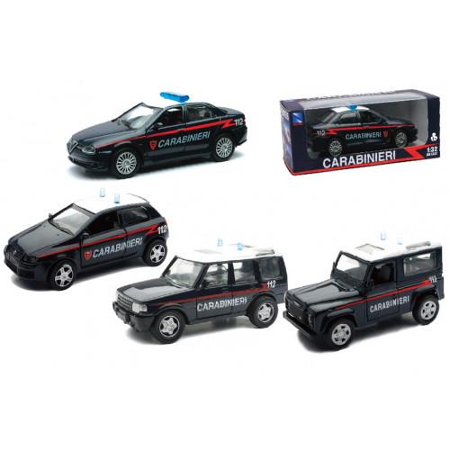 Auto Carabinieri/Polizia 4 modelli 1:32