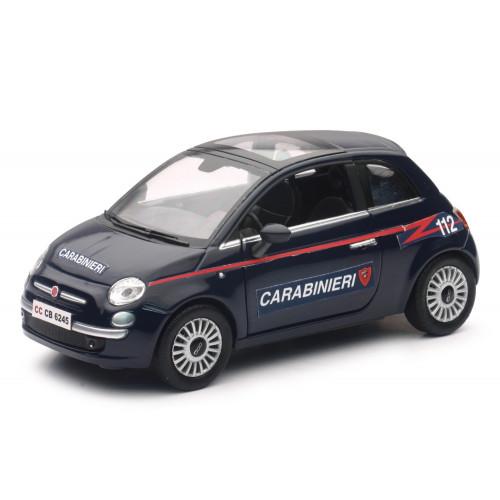 Auto Fiat 500 Carabinieri in scala 1:24