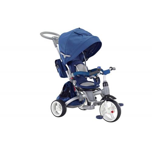 QPlay Triciclo Passeggino con Seggiolino reversibile 6 in 1 Modi Rosso