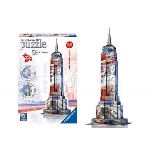 Puzzle 3D Empire State Building Flag Edition