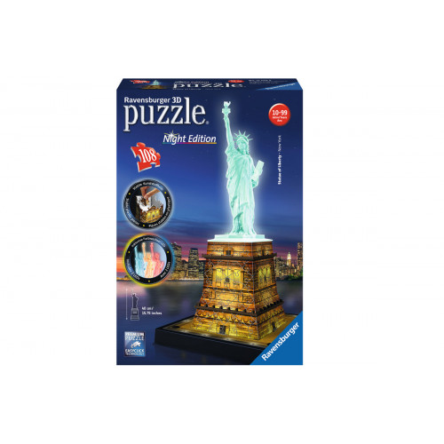 Puzzle 3D Statua della liberta' luminoso Ravensburger