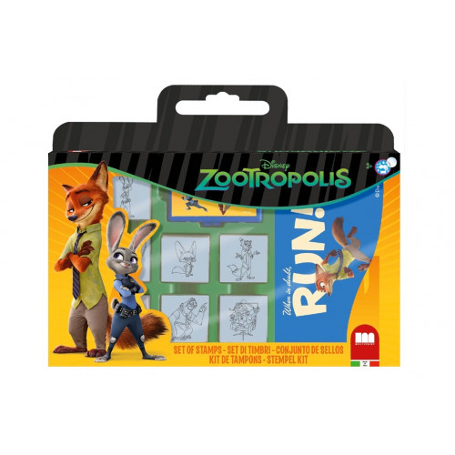 Valigetta 7 Timbri con Pennarelli Zootropolis Multiprint