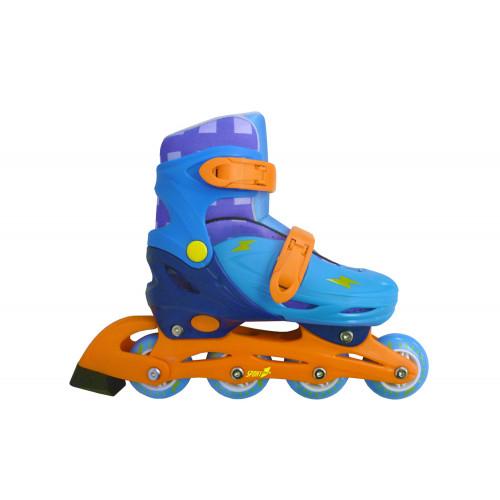 Pattini in linea Easy Roller taglia 31-34 azzurro Mandelli