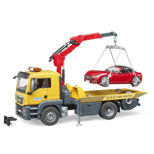 Camion Man TGS Trasporto auto luci e suoni