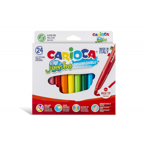 Pennarelli Carioca Jumbo da 24 pezzi