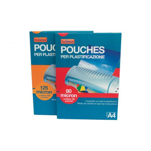 Pouches x plast. 75x105 125mic. cf.100