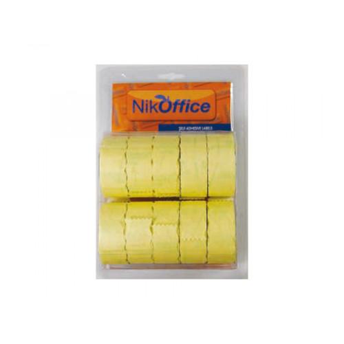 Rotolo etichette per prezzatrici giallo permanente 26x12 cf10