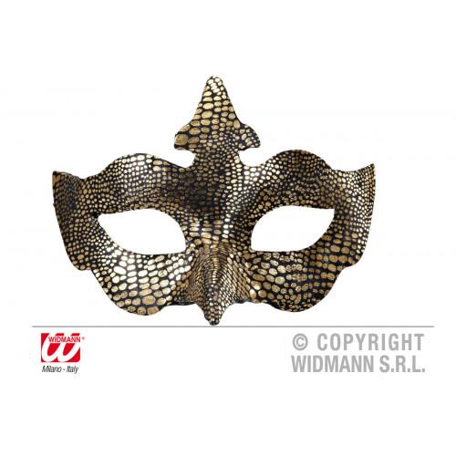 Maschera Uccello deluxe metallizzata oro Widmann