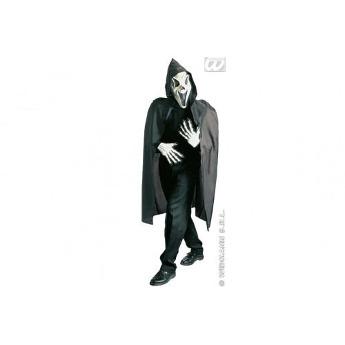 Maschera Scream con mantello Widmann