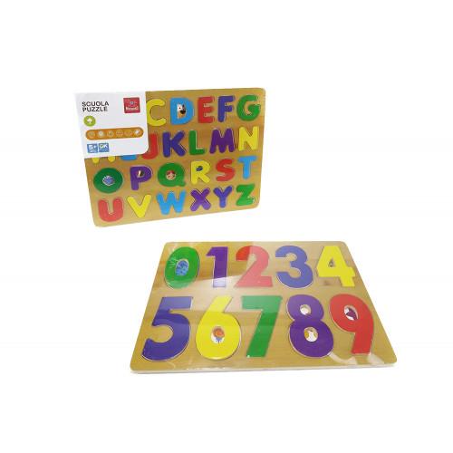 Puzzle Legno Numeri Lettere assortiti