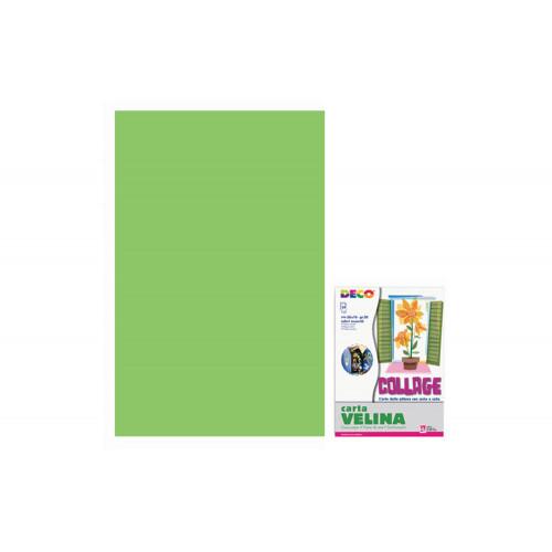 Carta velina 21 grammi verde chiaro 50x76 cf.24 fogli