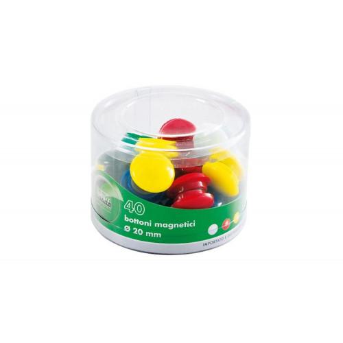Barattolo 10 Bottoni Magnetici 40 mm