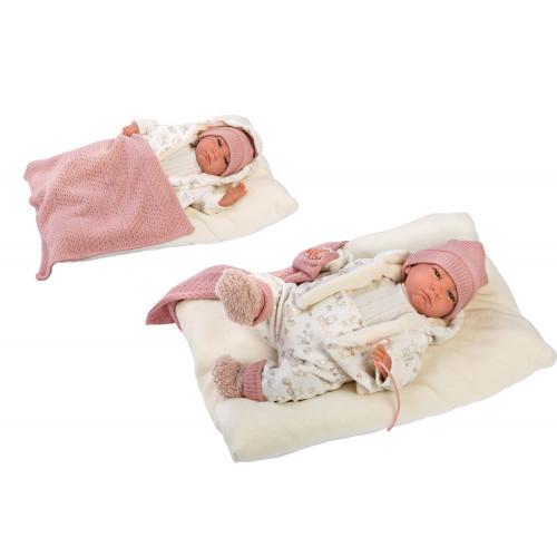 Reborn Bebe' con Tutina Bianca 42 cm