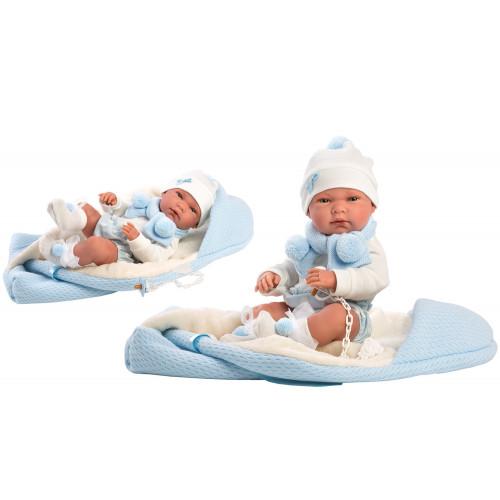 Bebe' Nicola con Copertina Azzurra 40 cm