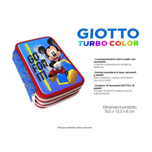 Mickey Astuccio 3 zip Giotto