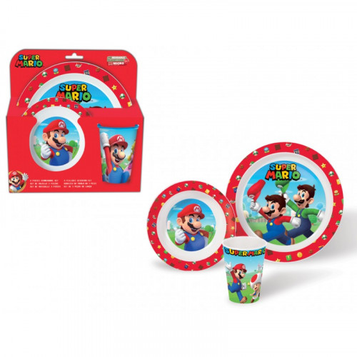 Set Pappa 3 pezzi Super Mario
