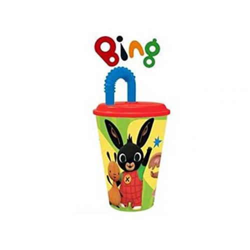 Bicchiere Bing con cannuccia 430 ml