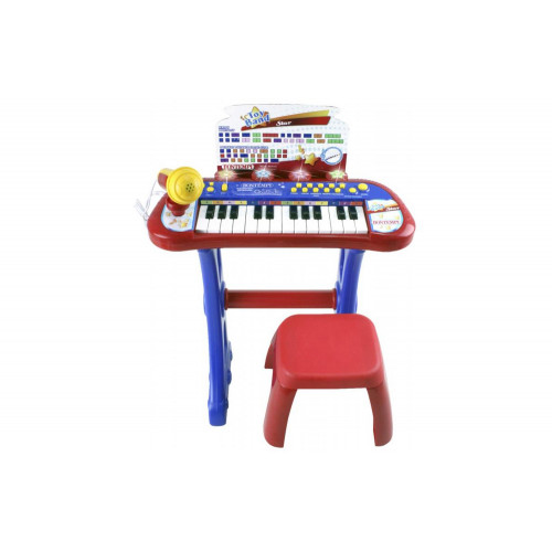 Tastiera elettronica 24 tasti microfono e sgabello