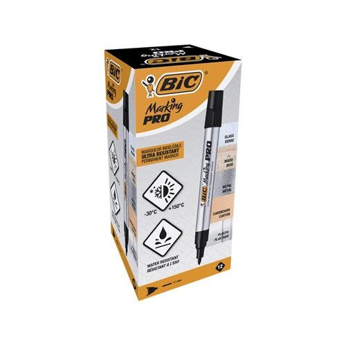 Marcatore marking pro bic nero cf.12 pezzi